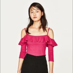 Zara Off The Shoulder Crop Top